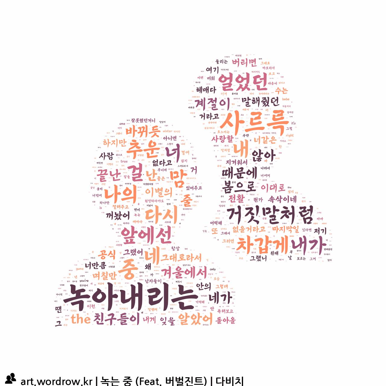 워드 아트: 녹는 중 (Feat. 버벌진트) [다비치]-14